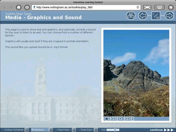 Screenshot of Xerte on iPad via iSwifter